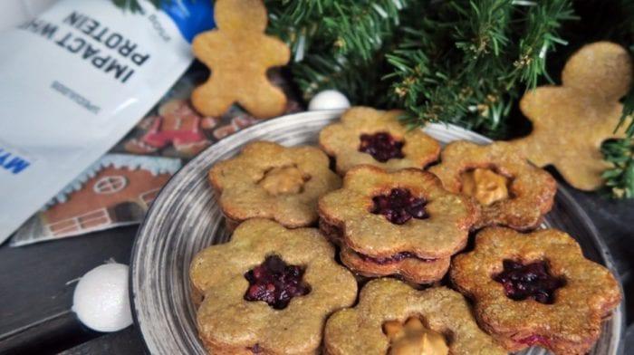 Fehérjedús karácsonyi linzer recept