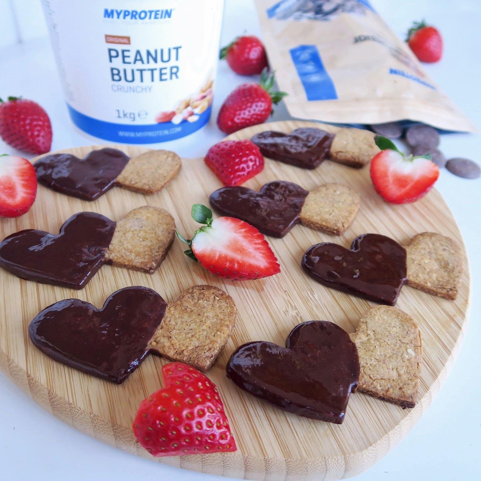Valentin napi mogyoróvajas keksz