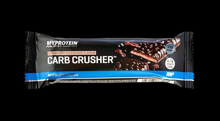 Carb Crusher protein szelet eper sajttorta
