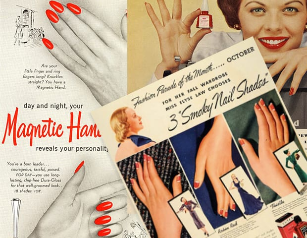 Vintage Hollywood Nail Art Inspiration