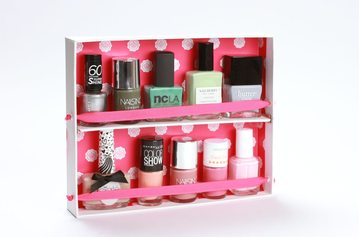 Upscale Your Glossybox: How To Create A Nail Polish Rack…