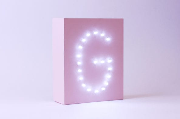 Upscale Your GLOSSYBOX: Personalised Letter Light