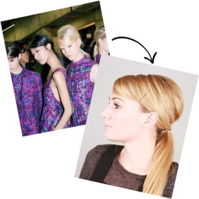 Runway To Real Life: Side-Parted Low Ponytail