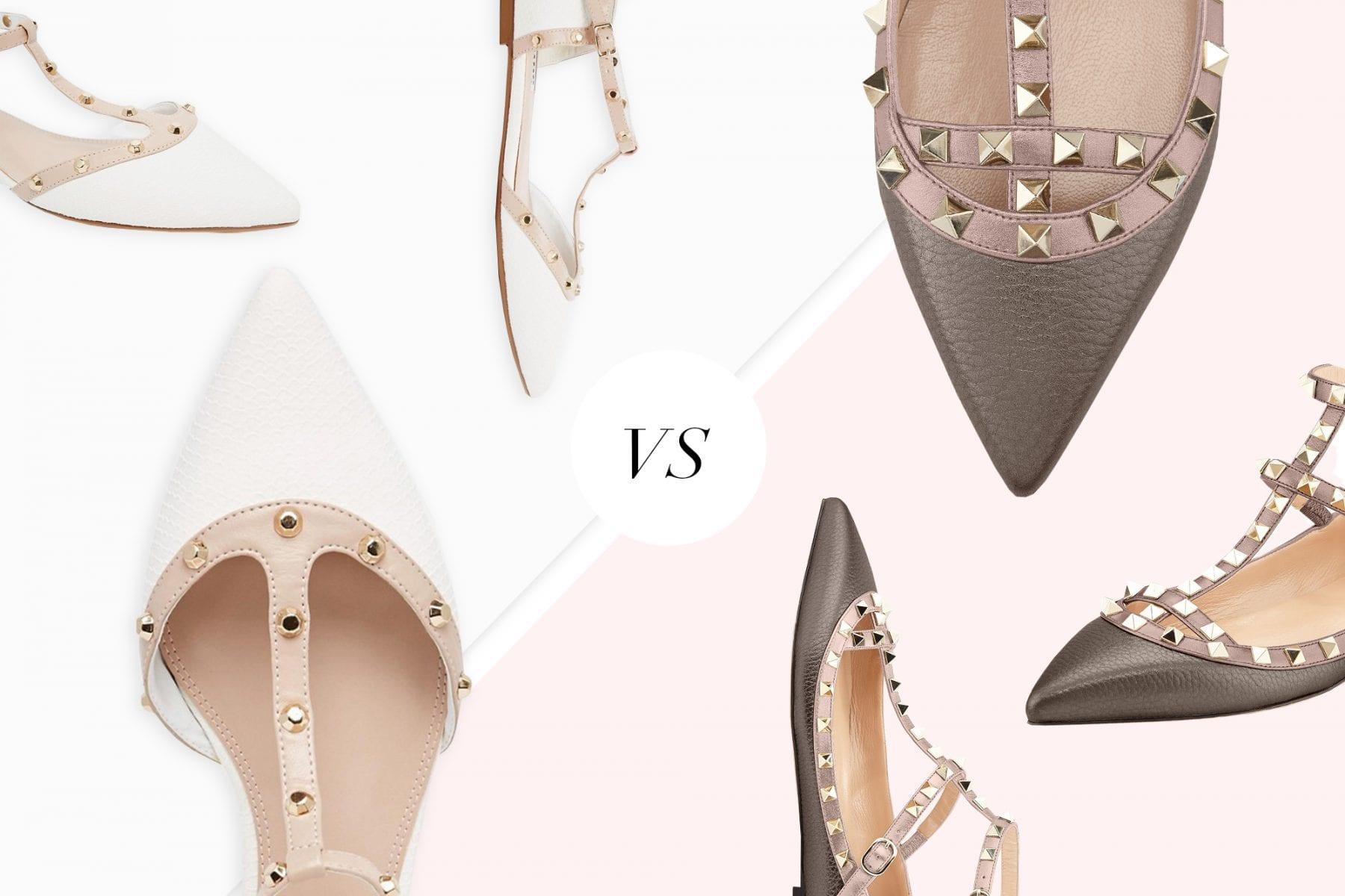 Save Vs Splurge: Valentino Rockstud Ballerina Flats
