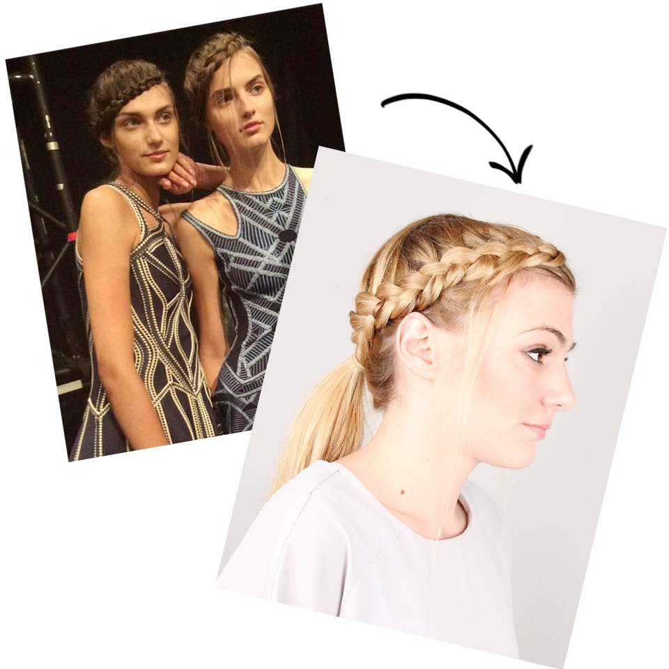 Runway To Real Life: Braided Crown Ponytail