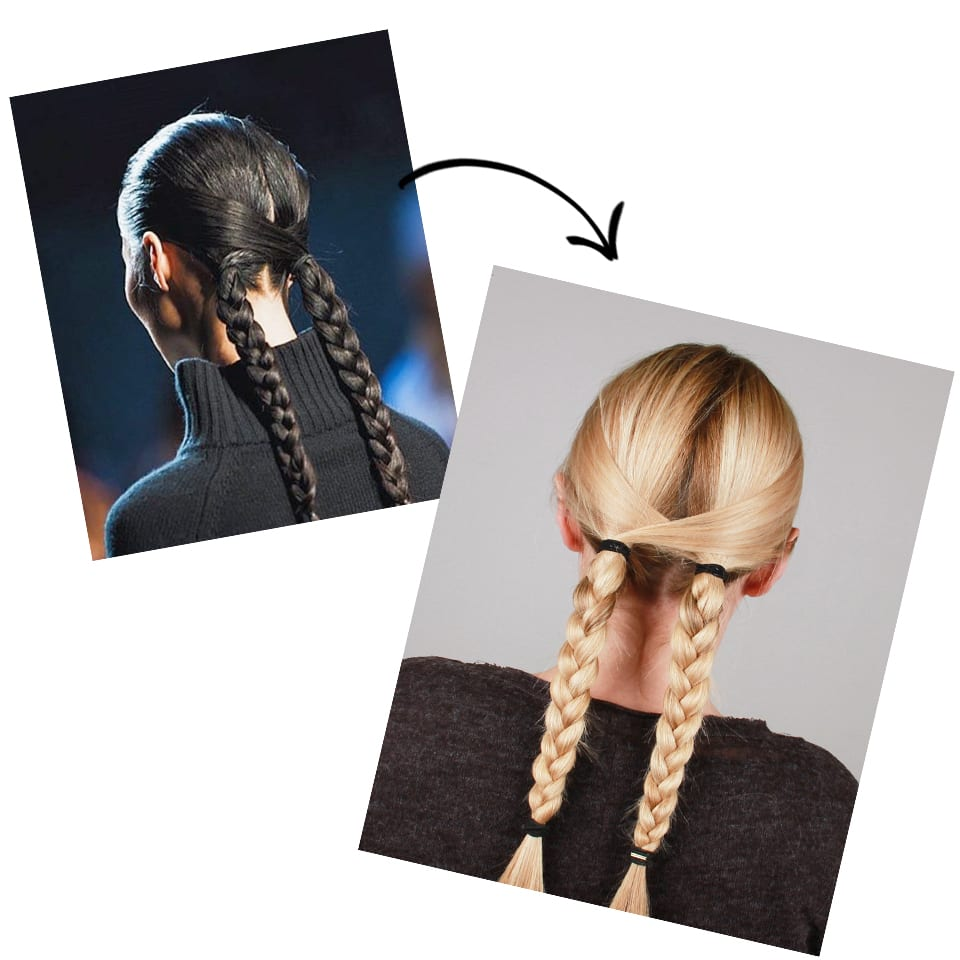 Runway To Real Life: Criss-Cross Plaits