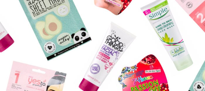 The Best Face Masks Under £5