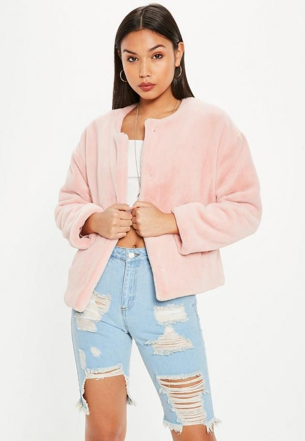pink jacket missguided