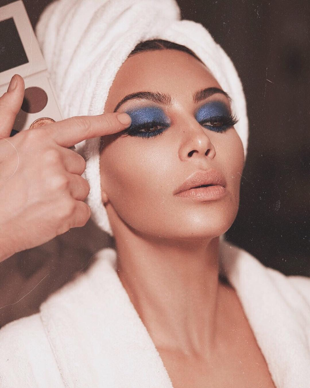 Kim Kardashian West Blue Eyeshadow