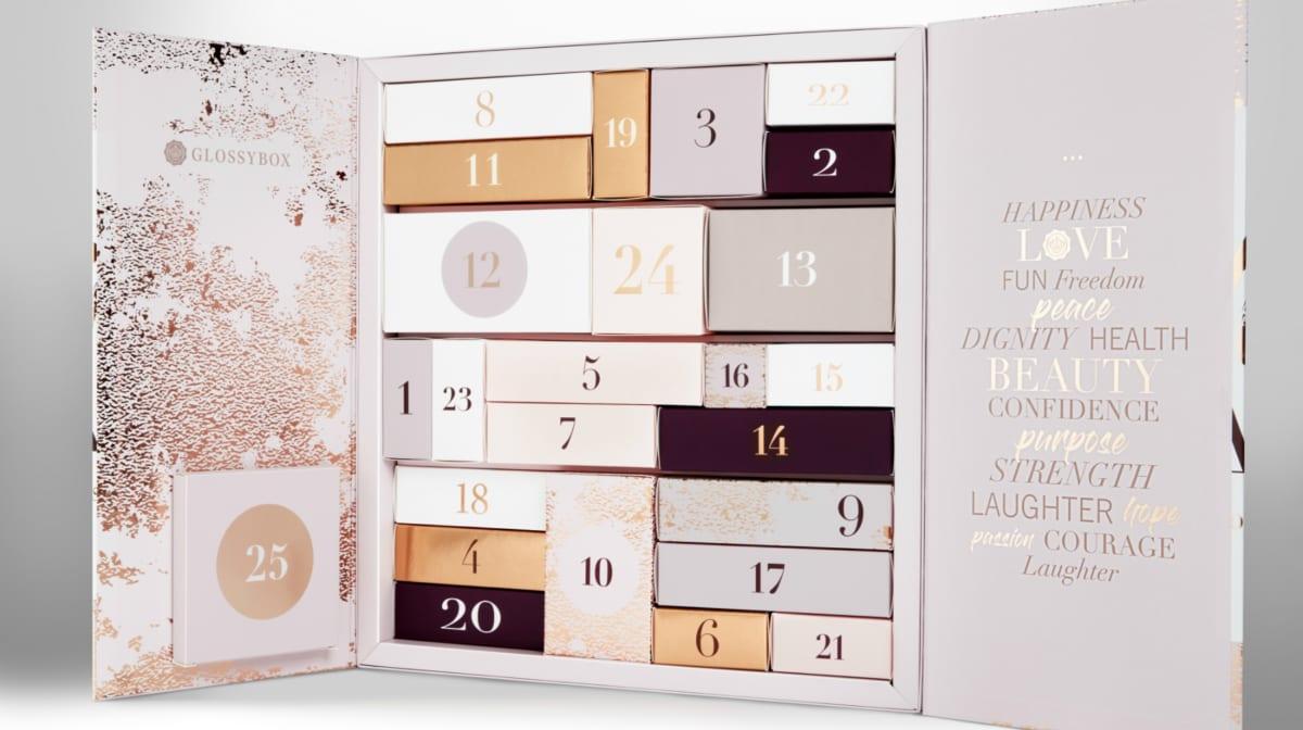 glossybox advent calendar 2019 full reveal coming soon. Black Bedroom Furniture Sets. Home Design Ideas