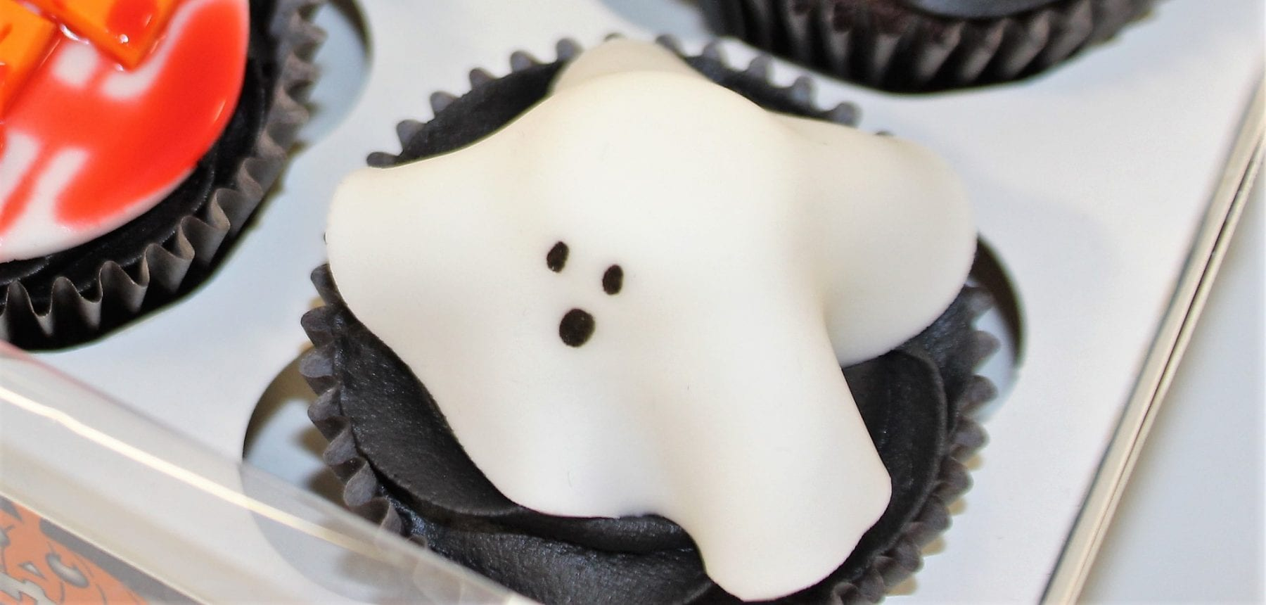Ghost Cupcake Finished Result