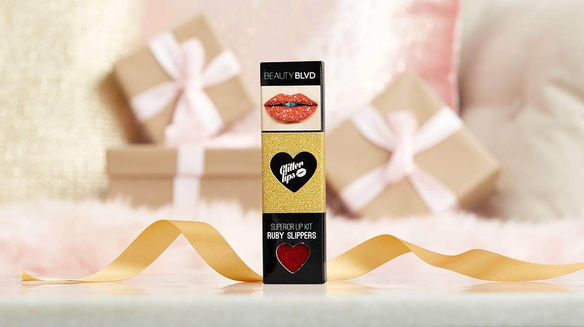 BEAUTY BLVD Glitter Lips Ruby Slippers