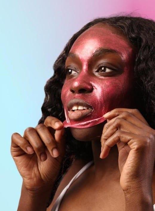 glitter face mask glitter makeup GLOSSYBOX