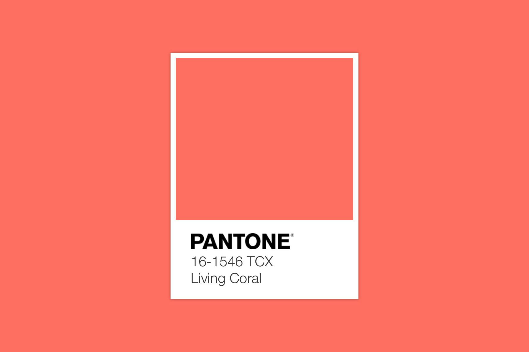 Pantone Living Coral Colour of year