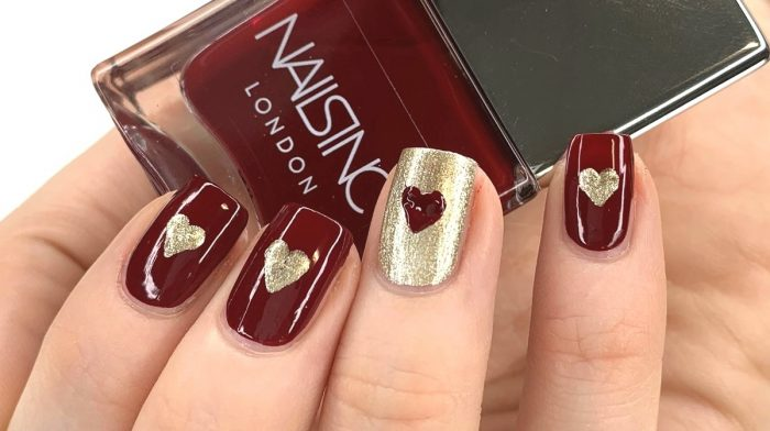 Valentine's Nails Tutorial With Nails Inc's Status Red