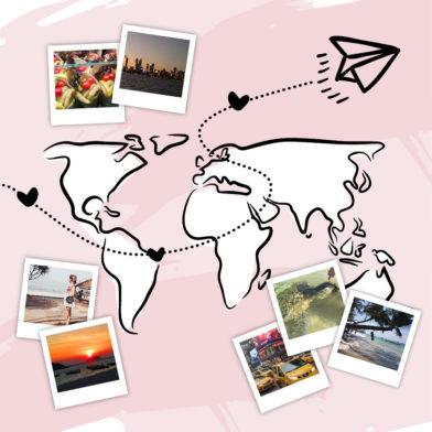 Glossies on Tour! An den schönsten Plätzen der Welt mit DER.COM