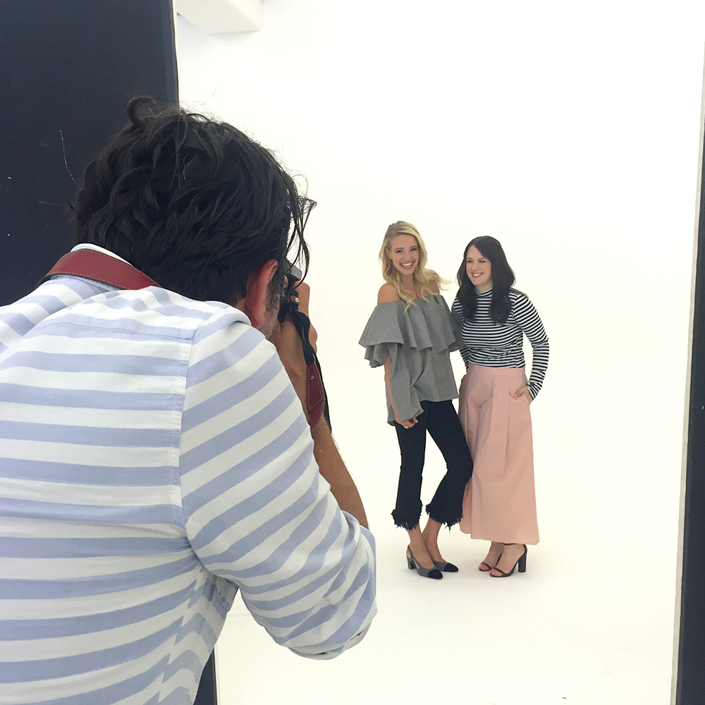 New Icons Edition: Backstage beim Shooting mit Anna, Leonie & Stefanie