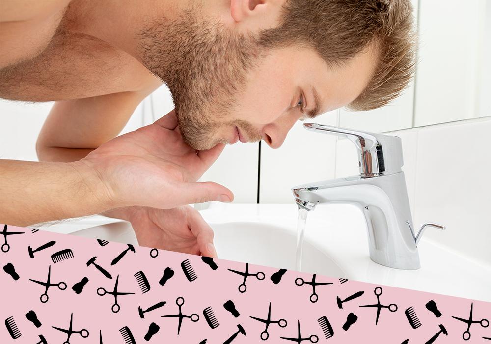 Bartpflege-waschen
