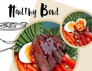 Dein Festival-Food für diesen Sommer: Healthy Bowl mit fruchtiger Chilisoße
