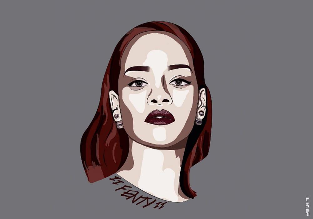 Rihanna Illustration Fenty