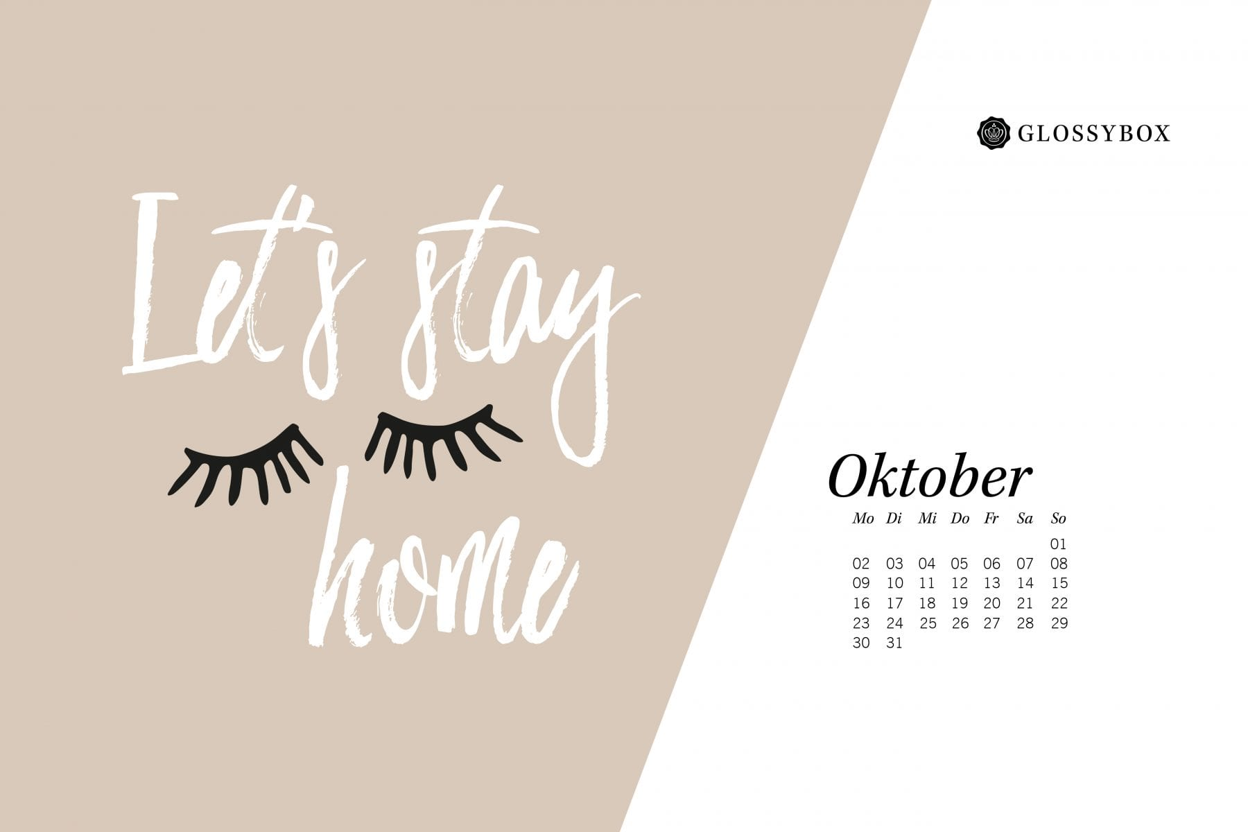 Jetzt wird's kuschlig: Deine GLOSSY Wallpaper im Oktober