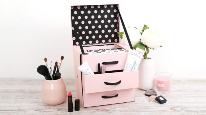 GLOSSY DIY: So easy zauberst du aus deiner Box einen Kosmetikorganizer!