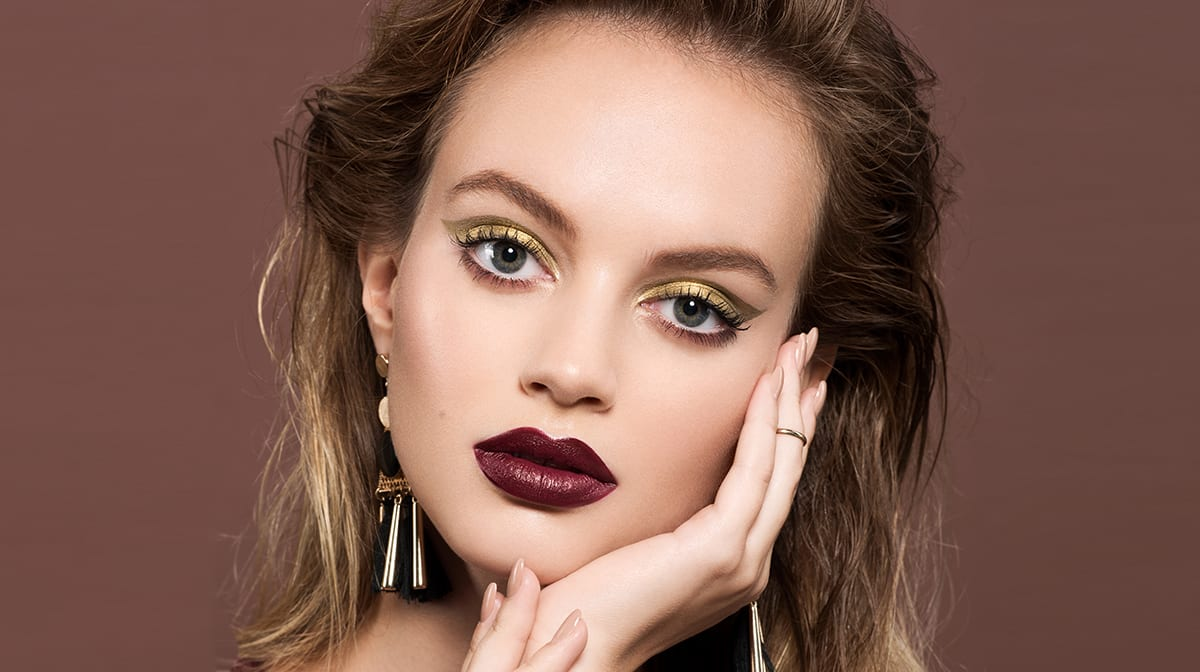 GLOSSY Looks: Make-up für die Festtage? Setz auf Golden Eyes!