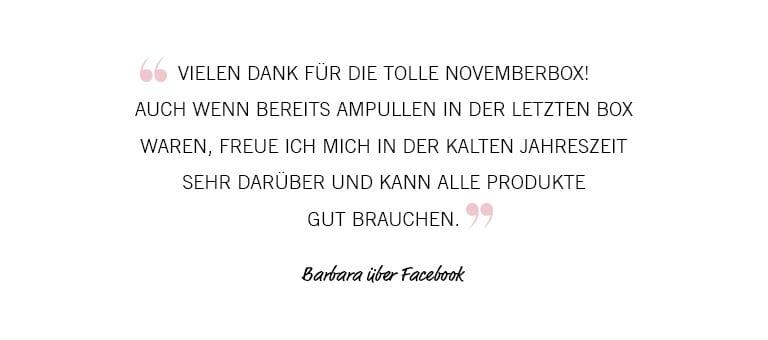 November Feedback Barbara