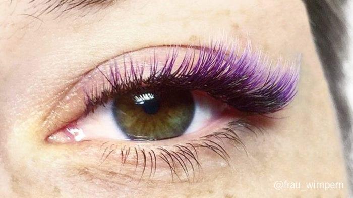 Ombré Hair ist sooo 2017!? Jetzt sorgen multicoloured Eyelashes für den neusten heißen ...