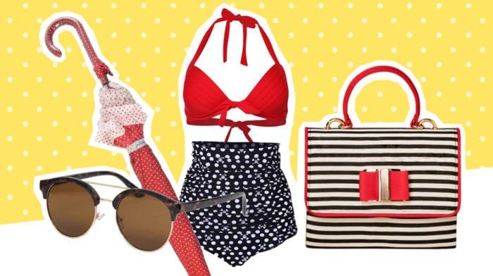 GLOSSY Fashion Picks: Die schönsten Accessoires für den Strand im Look der 60er-Jahre