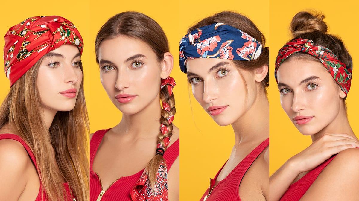 GLOSSY Tutorial: So machst du aus einem Seidentuch vier coole Sommer-Styles