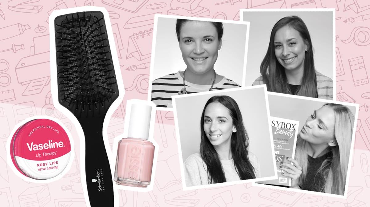 Diese Beauty-Produkte liegen auf unsern GLOSSY Schreibtischen_Glossies_Sales