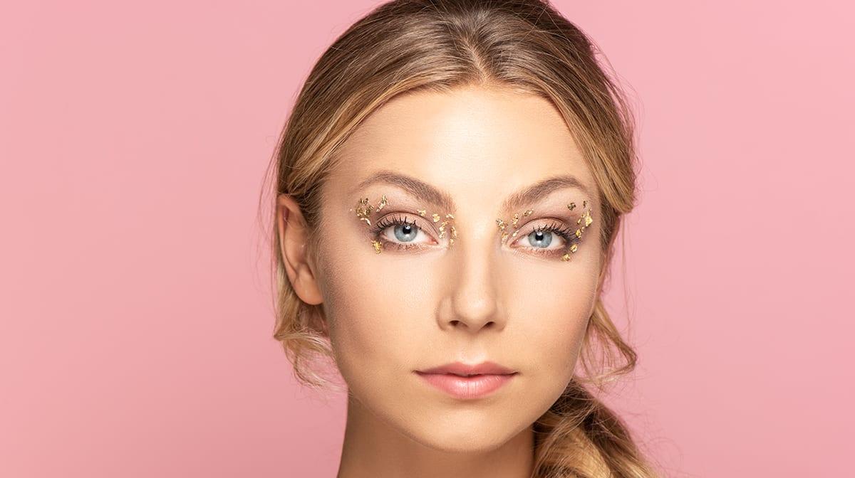 Blattgold-GLOSSYBOX-Look-Augen