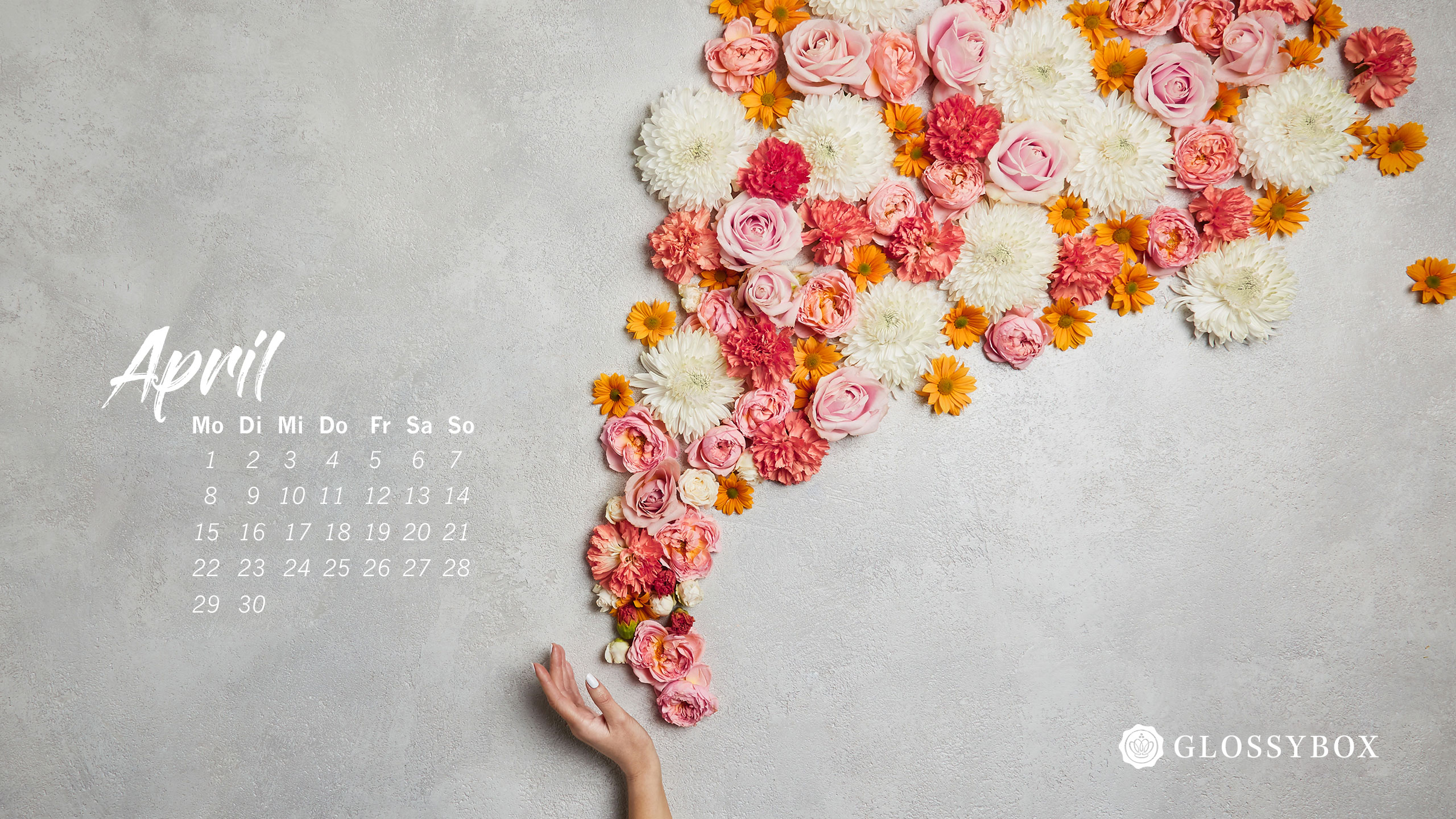 Wallpaper April Kalender