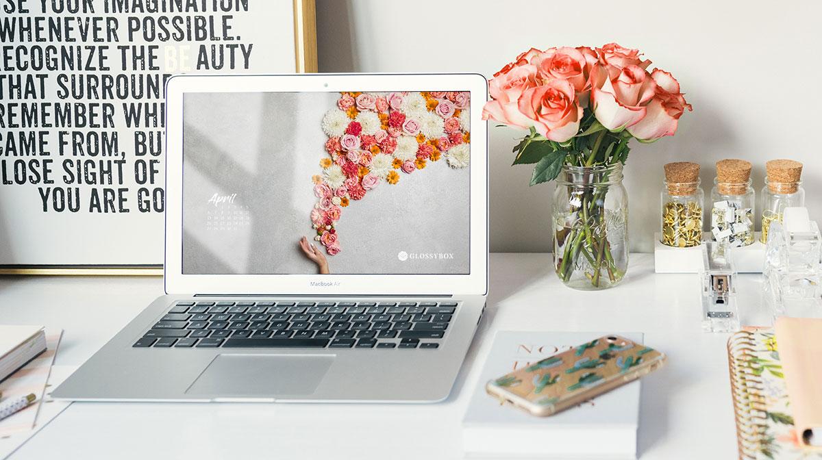 GLOSSY Wallpaper: Hol dir die GLOSSY Flower Wall auf dein Smartphone!