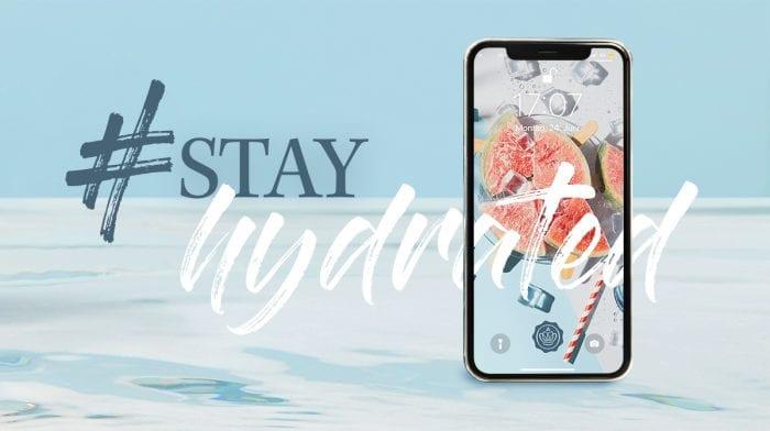 GLOSSYBOX Wallpaper im Juli: Der #stayhydrated-Look für dein Smartphone und Co!