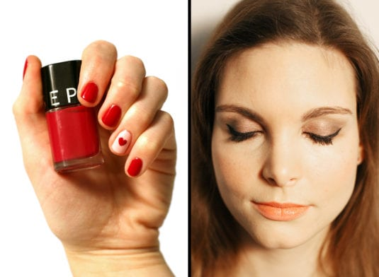 Make-up et Manucure de Saint Valentin
