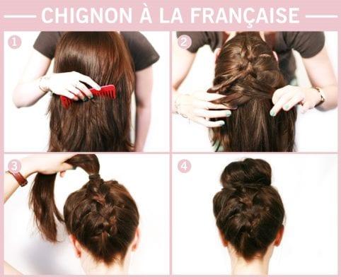 Tuto coiffure : chignon à la française