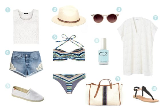Get the look : go to the beach !