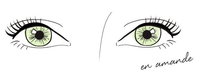 yeux amande