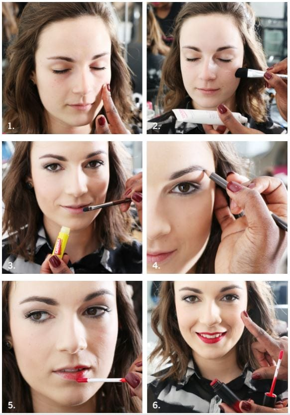 tuto tapis rouge étapes make-up maquillage