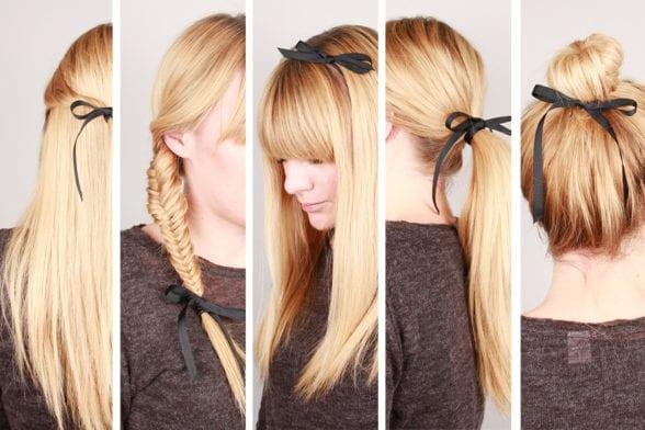5 façons de se coiffer avec un ruban