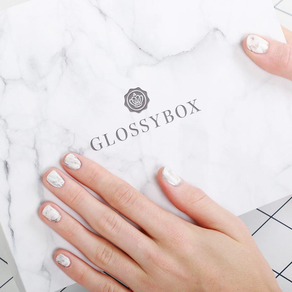 nail art marbre glossybox
