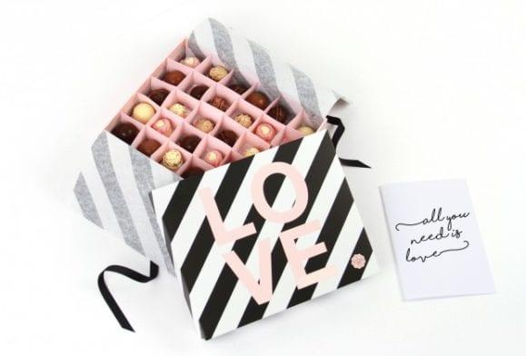 Transformez votre box en boîte de chocolats