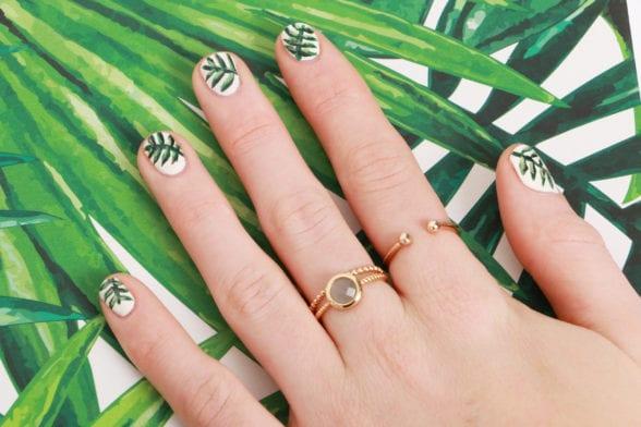 TUTO : un nail-art green