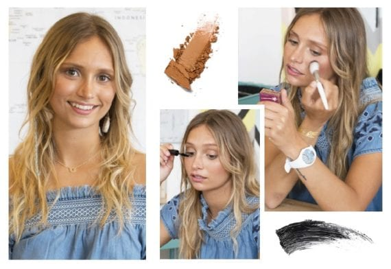 Un maquillage spécial bronzage