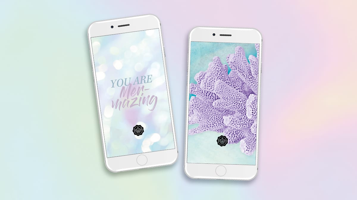 Le look de sirène aussi sur votre portable ! Découvrez les wallpapers Under the sea !