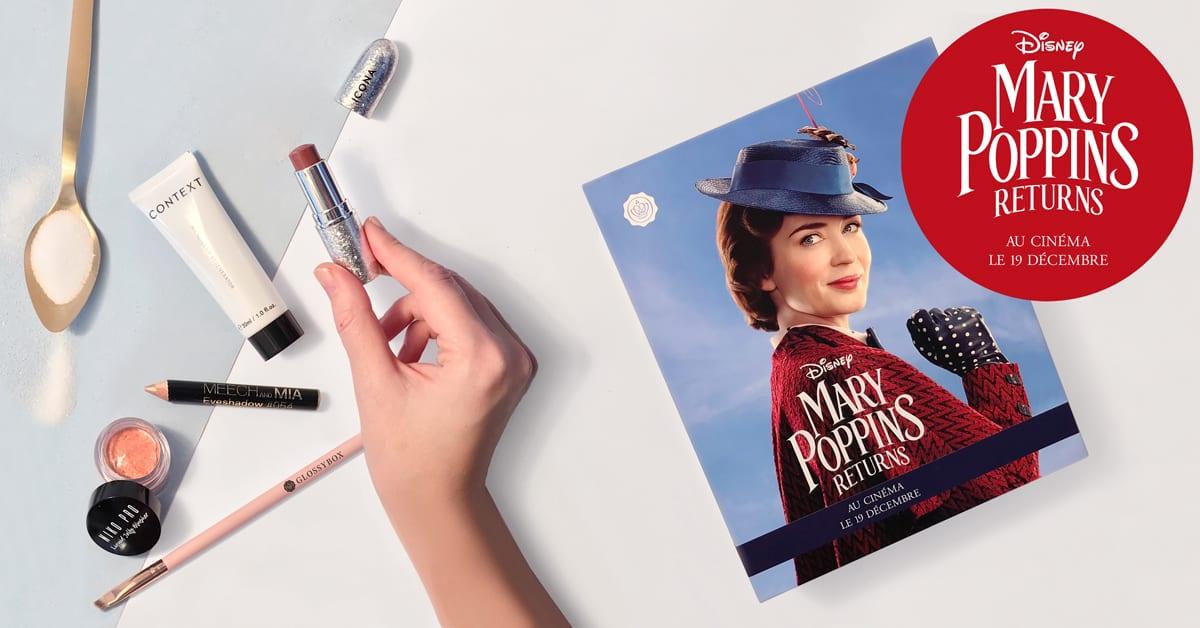 Dans la GLOSSYBOX de décembre – Unboxing « Mary Poppins »