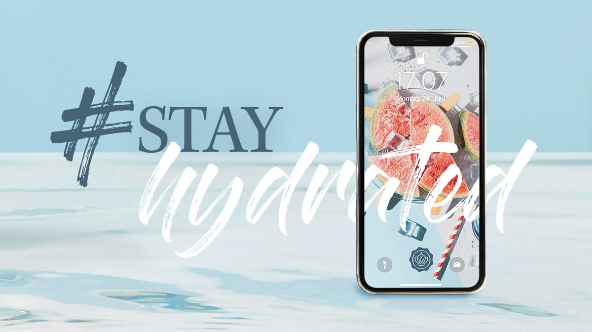 #StayHydrated - Les wallpapers de juillet sont là !