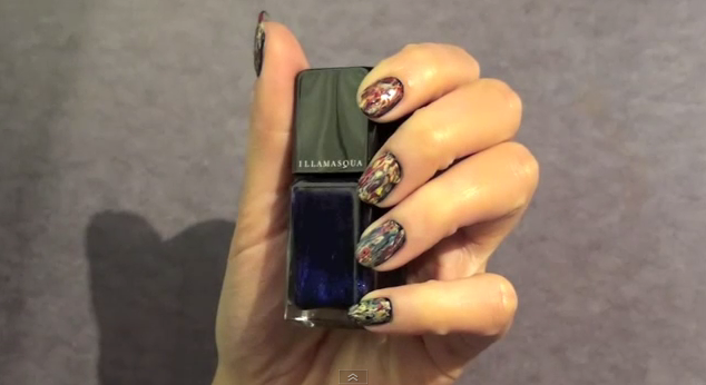 An Illamasqua graffiti nail tutorial...